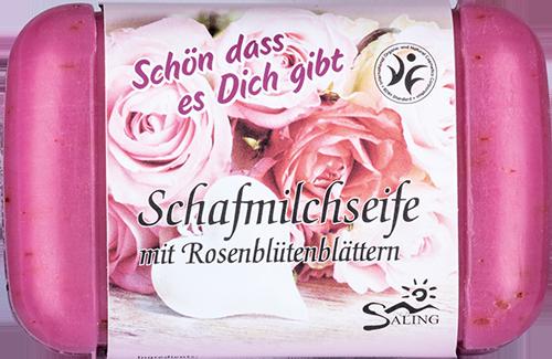"""Schafmilch-Rosenseife """"Schön dass es Dich gibt"""""""