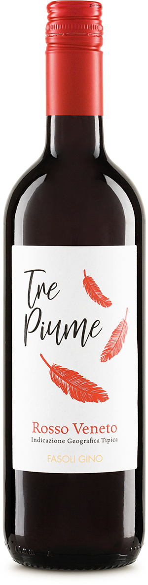 Italienischer Rotwein Tre Piume Rosso Veneto