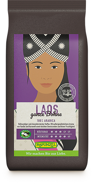 Heldenkaffee Laos, ganze Bohne