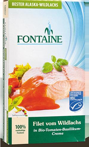Filet vom Wildlachs in Tomaten-Basilikum-Creme