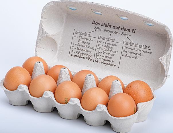 Regionale Eier im 10er-Karton