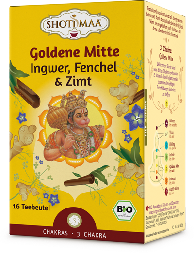 Chakra Tee Goldene Mitte