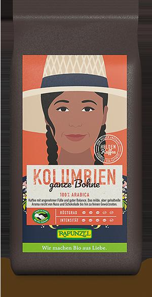 Heldenkaffee Kolumbien, ganze Bohne