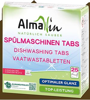 Spülmaschinen-Tabs mit dezentem Zitronenduft
