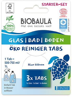 Starter-Set Reiniger Tabs (Glas, Bad & Boden)