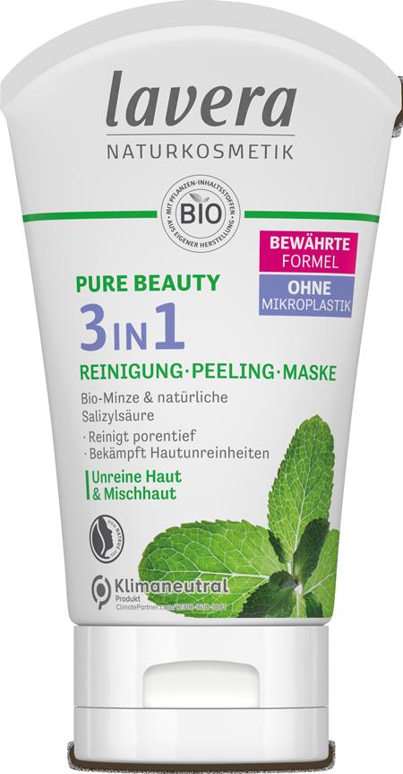 3 in 1 Reinigung-Peeling-Mask, Pure Beauty