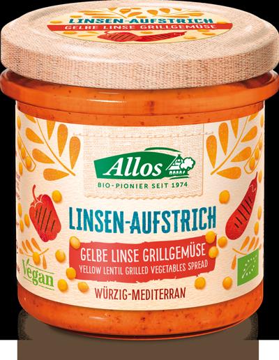 Linsen-Aufstrich Gelbe Linse-Grillgemüse