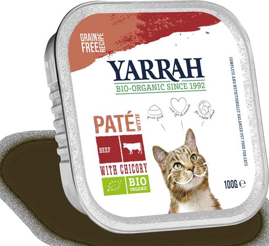 Katzen Nassfutter Paté mit Rind und Zichorie